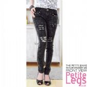 Taylor Distressed Studded Slim Straight Leg Acid Wash Jeans | UK Size 4-6 | Petite Inseam 25 inches
